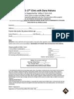 Dana Hokana Clinic Form - June 2018
