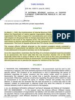 3. CIR vs. Pascor Realty and Development Corp