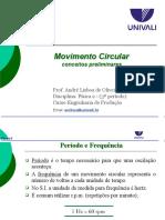 Aula 1 Movimento Circular e Aplicações