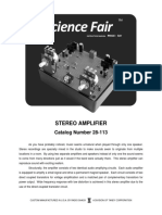 Stereo Amplifier Assembly Manual