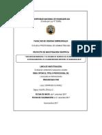 Evaluacion y Calidad de Servicio Ambiental