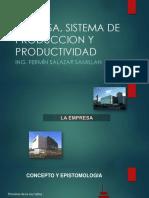 Tema 1 Empresa Sistema de Produccion, Productividad.