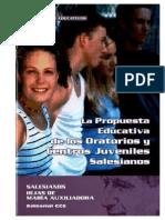 Propuesta Educativa de Los Oratorios y Centros Juveniles Salesianos