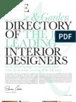 House & Garden top 100 designers2009