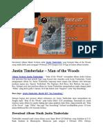 Album Justin Timberlake – Man of the Woods