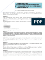 Ley Nº 704-1995 - Que Crea El Registro de Automotores Del Sector Público