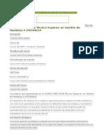 CURSO INEM 2018 Técnico Superior en Gestión de Residuos a DISTANCIA