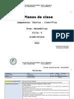 Plan de Clase Ciclo4 Grado 8