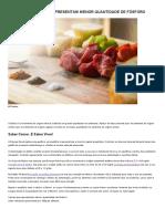 Carnes e Peixes Que Apresentam Menor Quantidade de Fósforo _ Portal Da Diálise - Insuficiência Renal Crónica
