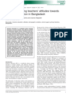 Variables Affecting Teachers Attitudes Towards Inclusive Education in Bangladesh