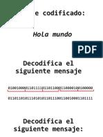 Ejerciicos binarios a letras