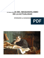 Vigencia del 'maquiavelismo' en la actualidad (Cohesión y consenso)