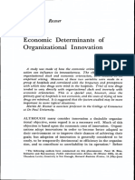 (1960) Martin M. Rosner. Economic Determinants of Organizational Innovation