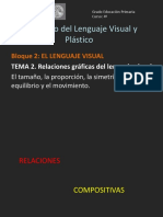 Relaciones gráficas del lenguaje visual