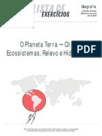 Planeta Terra Clima, Ecossistemas, Relevo e Hidrografia