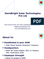 Nano Bright Solar Tech Presentation