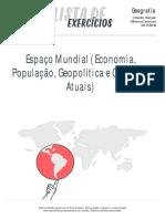 Espaco Mundial Economia Populacao