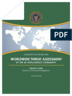 Worldwide Threat Assessment -- 2018 -- US Director of National Intelligence