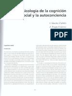 Cognicion Social y Autoconsciencia