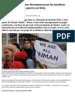Académicos Alemanes Desenmascaran Las Mentiras Mediáticas Sobre La Guerra en Siria