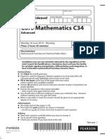 June 2014 (IAL) QP - C34 Edexcel