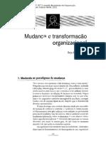 FISCHER, R.M. Mudança e Transformação Organizacional