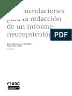 RECOMENDACION INFORME PSICOLOGICO