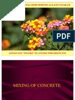 1.10 Concrete Mixing
