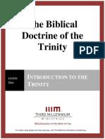 The Biblical Doctrine of the Trinity – Lesson 1 – Forum Manuscript