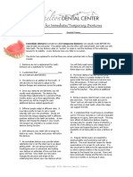 Pre Operative Consent Immediate Dentures 2010