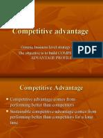 Generic Business Level Strategy (SBU)
