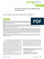 Prescription Costs Study