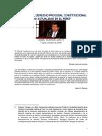 Esquema Del Derecho Procesal Constitucional y Su Actualidad en El Perú