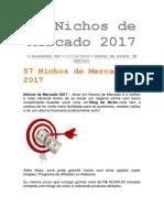 57 Nichos de Mercado 2017