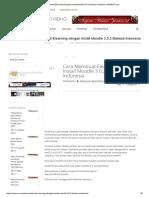 Cara Membuat Elearning Dengan Install Moodle 3.0.2 Bahasa Indonesia