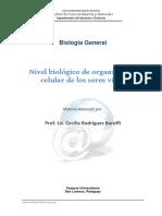 BG IV de LA UNID III Nivel Biologico de Organizacion Celular en Los Seres Vivos
