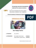 Trabajo de Mineralogía - Andrea Ruiz y Fiorella Zegarra