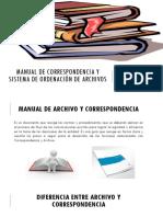 Manual de Correspondencia y Sistema de Ordenación Documental