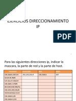 Ejercicio Direccionamiento IP 1