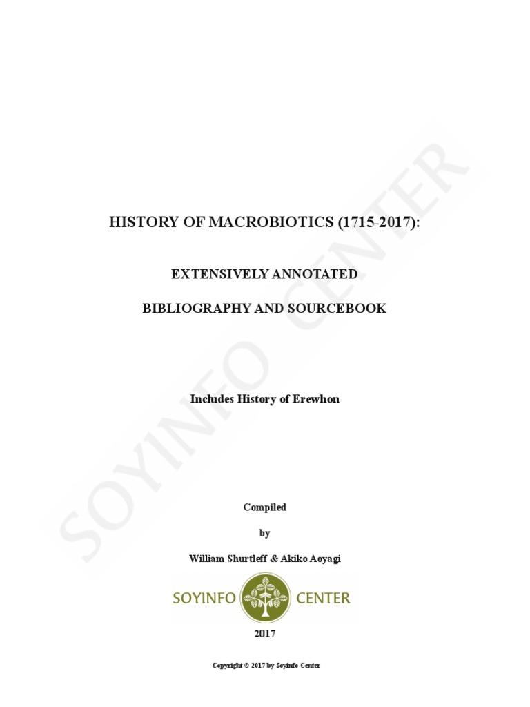 History of Macrobiotics 1715-2017   Macrobiotic Diet   Food