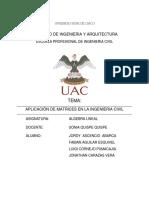 Matrices Aplicadas a La Ingenieria Civil - Semestre III