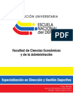 Plan Estudios Especializacion Administracion Deportiva