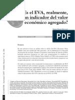 Eva como medida del valor económico agregado