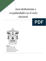 Prácticas Deshonestas e Irregularidades en El Ciclo Electoral.docx