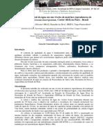 Variação Nictemeral Da Água Em Um Viveiro de Matrizes Reprodutoras de Tambaqui (Colossoma Macropomum, Cuvier 1818) No Pará Brasil