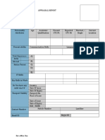 Candidate Appraisal Form
