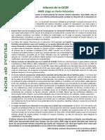 Nota de Prensa - Informe Ocde - Anpe Exige Un Pacto Educativo_1505303702