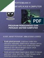 Program Pengganggu Dan Hacker Komputer