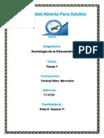 Tarea 1 Sociologia de La Educacion Yaneidy