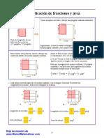 Fracciones 2 Multiplicacion Fracciones Area